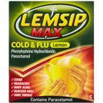 Ondt i halsen Lemsip Max Cold & Flu Lemon 650mg 5stk