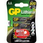 Engangsbatterier GP Batteries Lithium AA 4-pack