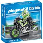 Legetøjsmotorcykel Playmobil City Life Motorcycle with Rider 70204