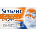 Sudafed Congestion & Headache Relief Day & Night 16stk