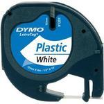 Kontorartikler Dymo LetraTag White Plastic Label 12mmx4m