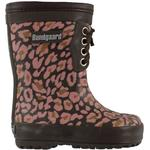 Bundgaard Classic Print Rubber Boot Warm - Rose Leopard