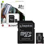 Hukommelseskort Kingston Canvas Select Plus microSDXC Class 10 UHS-I U1 V10 A1 100MB/s 64GB +Adapter