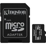 Hukommelseskort Kingston Canvas Select Plus microSDHC Class 10 UHS-I U1 V10 A1 100MB/s 16GB +Adapter