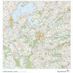 Trap Danmark: Falset kort over Viborg Kommune: Topografisk kort 1:75.000 (2019)