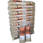 Træpiller, Træbriketter og Brænde German pellets - 990Kg Træpiller 8mm Palle