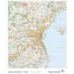Trap Danmark: Falset kort over Aarhus Kommune: Topografisk kort 1:75.000