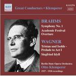 Prelude Musik CD Otto Klemperer - Brahms: Symphony No. 1; Academic Festival Overture; Wagner; Tristan und Isolde - Prelude to Act 1; Siegfried Idyll