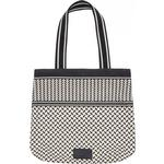 Tasker Lala Berlin Carmela Kufiya Tote Bag - Off White/Black