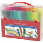 Faber-Castell Connector Felt Tip Pen Set Carrying Case 92 Pieces