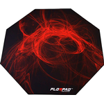 Florpad Fury Floor Mat - Black/Red