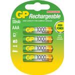 Batterier til lommelygter GP Batteries Rechargeable NiMh AAA 1000 Series 950mAh 4-pack