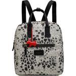 Tasker Radley Leopard Oilskin Small Backpack - Dove Grey