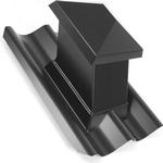 Cembrit Sort B6 Roof Cap (994651)