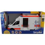 Legekøretøj Bruder Mercedes Benz Ambulance Sprinter med Chauffør 02536