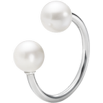 Georg Jensen Moonlight Grapes Ring - Silver/Pearls