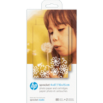 HP Sprocket 10x15cm 80 sheets 2 catridges