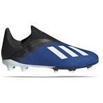 Sportssko - 34 Børnesko Adidas Junior X 19.3 FG Laceless - Team Royal Blue/Cloud White/Core Black