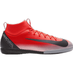 Indendørs (IC) Børnesko Nike SuperflyX 6 Academy CR7 IC GS - Bright Crimson/Black/Chrome/Dark grey