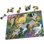 Larsen Dogs in a Flower Field 32 Pieces