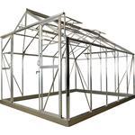 Drivhuse Elmholm Standard 9.75m² Aluminium Hærdet glas