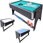 Bordspil Megaleg 4I1 Multi Bord Med Pool, Airhockey, Bordtennis Og Spisebord