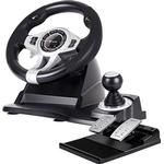 Tracer Roadster 4 in 1 Steering Wheel and Pedal Set (PC/PS3/PS4/Xbox) - Black