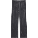Bukser Dametøj Gina Tricot Cecilia Velour Trousers - Dark Grey