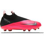 Græs (FG) Børnesko Nike Jr. Phantom Vision 2 Elite Dynamic Fit MG - Laser Crimson/Black/Black/Metallic Silver
