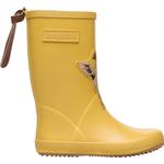 Uforede gummistøvler Børnesko Bisgaard Animal Fashion - Yellow