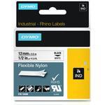 Dymo Rhino Flexible Nylon Tape 12mmx3.5mm Black on White