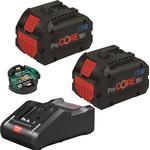 Bosch 2 x ProCORE18V 8.0Ah + GAL 18V-160 C + GCY 42 Professional