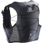 Løberygsæk Salomon Active Skin 8 Set - Ebony/Black