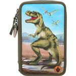 Hobbymaterialer Dino World Trippel Pencil Case with LED