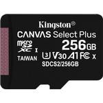 Hukommelseskort Kingston Canvas Select Plus microSDXC Class 10 UHS-I U3 V30 A1 100/85MB/s 256GB