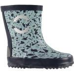 Børnesko Mikk-Line Rubber Boot - Silver Blue
