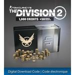 Gavekort Ubisoft Tom Clancy's The Division 2 - 1050 Premium Credits - PS4