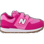 Børnesko New Balance Kid's 574 Hook and Loop - Exuberant Pink/Candy Pink