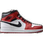 Nike Air Jordan 1 Sko Nike Air Jordan 1 Mid M - White/Black/Gym Red