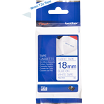 Brother P-Touch Fabric Tape 18mmx3m Blue on White