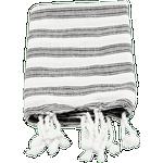 Meraki Hammam Gæstehåndklæde Hvid, Sort (90x45cm)