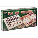 Vini Game 3 in 1 Skak Dam Backgammon