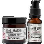 Ecooking Peel Maske & Vitamin Boost Serum Gaveæske