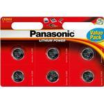 Ur-batterier Panasonic CR2032 6-pack