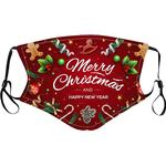 Face Mask Christmas Mixed Print PM2.5 Filter for Child