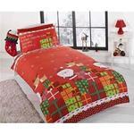 Kids Xmas Santa Claus Bedding Set 135x200cm