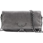 Håndtasker Zadig & Voltaire Rock Suede Clutch - Gray/Blue