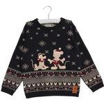 Wheat Knit Pullover Mickey - Midnight Blue