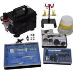 Øvrigt Elværktøj vidaXL Airbrush Compressor Set
