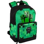 "Skoletaske Minecraft 17"" Creeper Fatigued Again Backpack - Green"